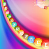 Vitamins Rainbow 04 A Stock Images