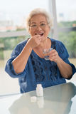 Vitamins for seniors Royalty Free Stock Images