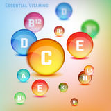 Vitamins Set Image Royalty Free Stock Images