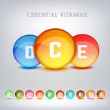 Vitamins Set Image Royalty Free Stock Photography