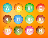 Vitamins set vector Stock Photos
