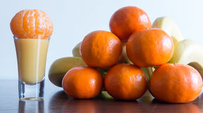 Healthy fruits - Vitamins shot concept Royalty Free Stock Photos