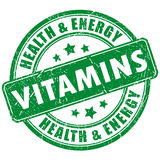Vitamins stamp Stock Images