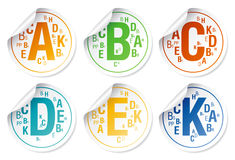 Vitamins stickers. Royalty Free Stock Image
