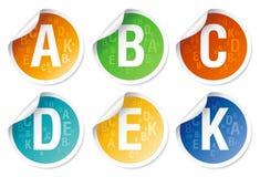 Vitamins stickers. Royalty Free Stock Photos