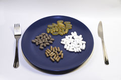 Vitamins and supplements stock photography