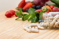 Vitamins supplements. Royalty Free Stock Images