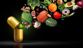 Vitamins Supplements Nutrition stock illustration