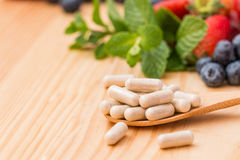 Vitamins supplements. Royalty Free Stock Photography