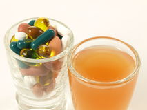 Vitamins in two ways,  Stock Photo