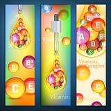 Vitamins Vertical Banners Royalty Free Stock Photography