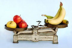Vitamins on weighing-machine Royalty Free Stock Photo