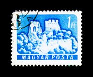 Vitany, Castles (1960-64) serie, circa 1961. MOSCOW, RUSSIA - NOVEMBER 25, 2017: A stamp printed in Hungary shows Vitany, Castles (1960-64) serie, circa 1961 Stock Photos