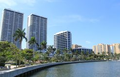 Arkitektur i West Palm Beach Arkivbild