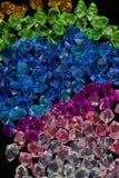 Vitblått knackar textur för den gröna stenen för akryl för violeten crystal crystal Royaltyfri Foto