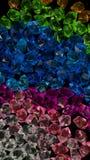 Vitblått knackar textur för den gröna stenen för akryl för violeten crystal crystal Fotografering för Bildbyråer
