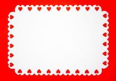 Vitbok med hjärta arkivfoton