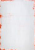 Vitbok med röda boarders royaltyfria bilder