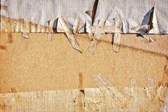 Vitbok som klibbas på trä Fotografering för Bildbyråer