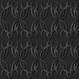 vite di carta scura di Wave dell'incrocio della curva di spirale di arte 3D Immagini Stock
