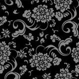 Vite senza cuciture antica del fiore della curva di spirale del giardino del fondo illustrazione vettoriale