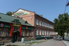The old brick building on Lenin Street in the city of Vitebsk. Royalty Free Stock Image