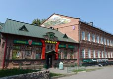 The old brick building on Lenin Street in the city of Vitebsk. Stock Photography