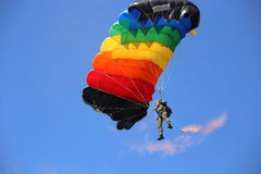 Vitebsk, Belarus - August 2, 2015: paratrooper during the celebration of the Paratroopers VDV Day on 2 August 2015 in Viteb Royalty Free Stock Image