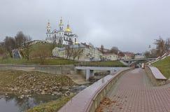 Vitebsk, Belarus. View of the Assumption Cathedral in Vitebsk, Belarus Stock Images
