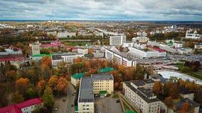 Bird`s eye view of the city center of Vitebsk stock image
