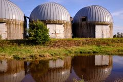 Farm building for silo stock photos