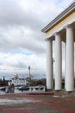 Vitebsk, view from the dramatic theater at the Annunciation Chur Stock Images