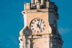 Vitebsk, Wit-Rusland Sluit omhoog van Oud Stadhuis Beroemd Oriëntatiepunt in Sunny Day royalty-vrije stock afbeelding