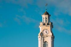 Vitebsk, Wit-Rusland Sluit omhoog van Oud Stadhuis Beroemd Oriëntatiepunt in Sunny Day royalty-vrije stock afbeeldingen