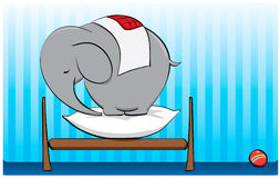 Vitela do elefante Fotografia de Stock Royalty Free