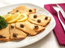 Vitello tonnato Royalty Free Stock Photography