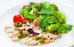 Vitello tonnato the Italian cuisine royalty free stock images