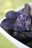 Vitelotte potato crisps Royalty Free Stock Photo