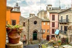 Viterbe - le Latium - Montefiascone - voyage Italie photos libres de droits