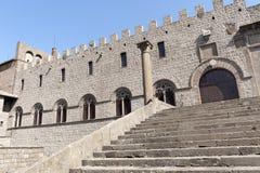 Viterbe, palais des papes images libres de droits