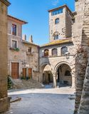 The picturesque San Pellegrino medieval district in Viterbo, Lazio, central Italy. royalty free stock photography