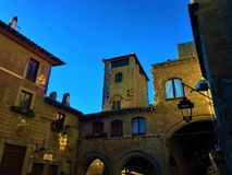 Viterbo, an ancient city in the Lazio region, Italy. Medieval buildings and art. Viterbo, an ancient city in the Lazio region, Italy. Medieval buildings and royalty free stock image