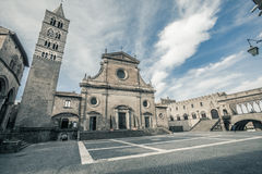 Viterbo Cathedral. Saint Lawrence Royalty Free Stock Image