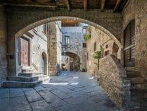 Saint Pellegrino District in Viterbo, Lazio Italy stock images