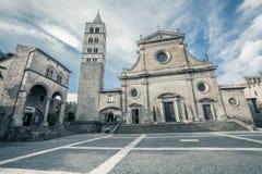 Viterbo domkyrka Italienare: Duomodi Viterbo eller Cattedrale di San Lorenzo Arkivbilder