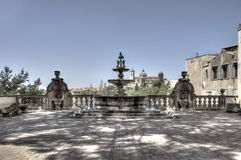 Viterbo Fountain Palazzo dei Priori HDRI Stock Photography
