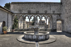 Viterbo Fountain Papal Palace. Papal's Palace Fountain in Viterbo stock photography