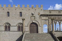 Viterbo. The Gothic Papal Palace is a popular destination for all Viterbo visitors royalty free stock image