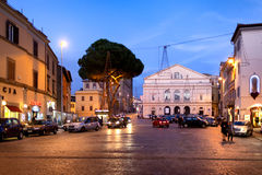 Viterbo Theater Square By Night Stock Image