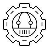 Vitesse avec la ligne mince icône de robot Vitesse mécanique avec l'illustration de vecteur de robot d'isolement sur le blanc Sty illustration libre de droits